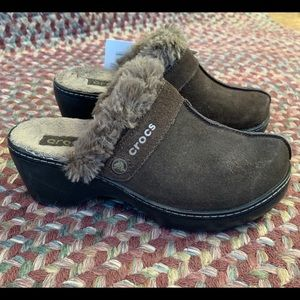 Crocs Cobbler Leather Clog Espresso/and Black